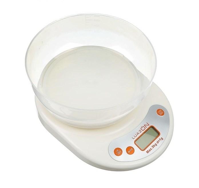 Кухонные весы с чашей Luazon, до 5 кг - фото 7384
