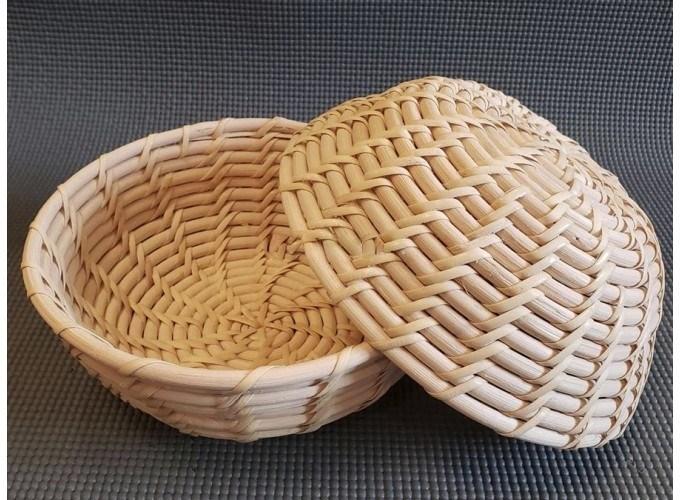 Корзинка для расстойки теста из лозы ротанга круглая плетеная 21х9 см - фото 7617