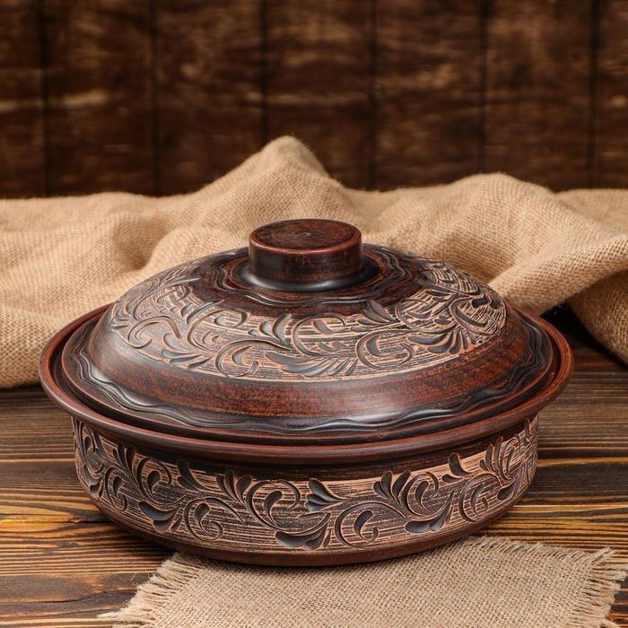 Форма для выпечки керамическая с крышкой 24х7.5 см - фото 7625