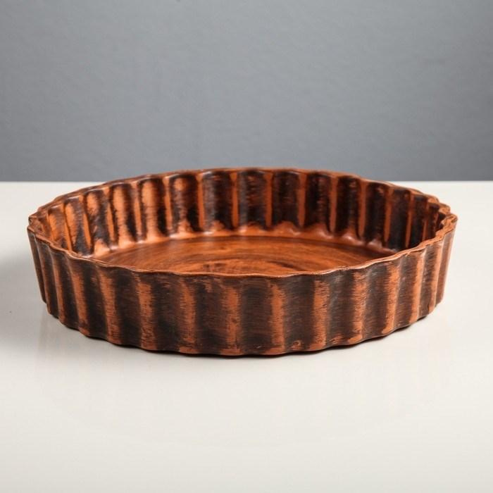 Форма для выпечки керамическая 26х5 см - фото 7630