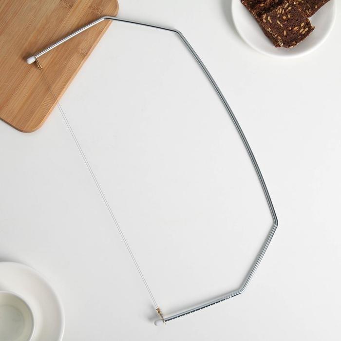 Нож-струна для нарезки бисквитов 42×20 см - фото 7638
