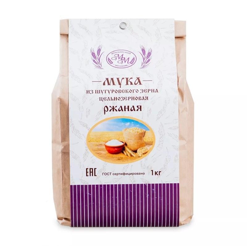 Мука ржаная цельнозерновая из Шугуровского зерна, пакет 1 кг - фото 7640