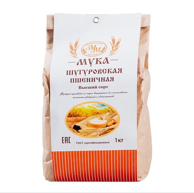 Мука пшеничная высшего сорта из Шугуровского зерна, пакет 1 кг - фото 7660