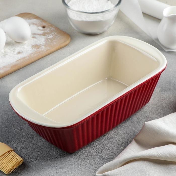 Форма для выпечки хлеба керамическая Danny Home 23х11.5х7 см - фото 7723
