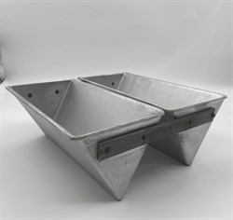 Форма для выпечки хлеба треугольная 247х125х100 мм. 2-х секционная - фото 7729
