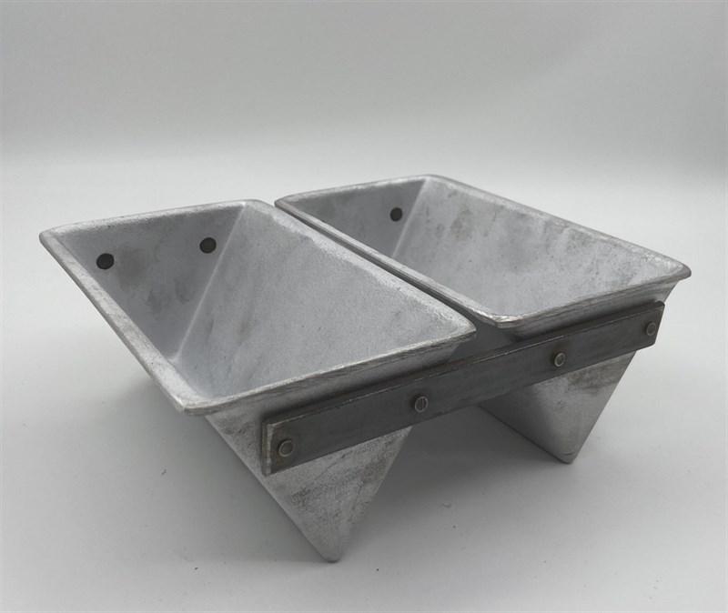 Форма для выпечки хлеба треугольная 185х110х85 мм. 2-х секционная - фото 7738