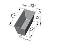 Форма для выпечки хлеба Л-10-3 (205х100х105 мм)