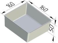 Форма для выпечки хлеба квадратная 160х160х50 мм