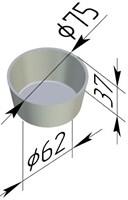 Форма для маффинов (75х65х35 мм)