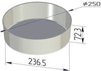 Форма для выпечки хлеба со съемным дном 250х237х73 мм