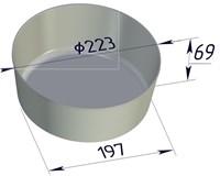 Форма для выпечки хлеба 223х197х69 мм