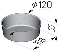 Форма для выпечки хлеба 120х108х55 мм