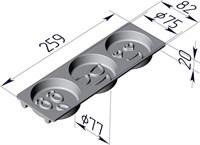 Форма для выпечки Смайлики 259х82х20 мм