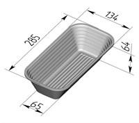 Форма для расстойки и выпечки хлеба овальная 285х135х65 мм