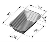 Форма для расстойки и выпечки хлеба овальная 255х160х65 мм
