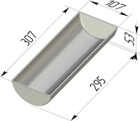 Форма для выпечки хлеба Рулетница 307х107х53 мм