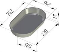 Форма для выпечки хлеба овальная 242х142х37 мм