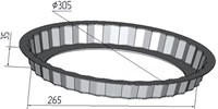 "Форма для выпечки ""Чизкейк"" со съемным дном 305х35 мм"