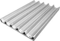 Противень для багетов алюминиевый перфорированный 5 секций 600х400 мм