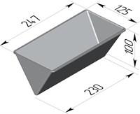 Форма для выпечки хлеба треугольная 247х125х100