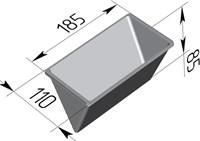 Форма для выпечки хлеба треугольная 185х110х85