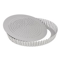 Форма для выпечки круглая перфорированная Patisse Silver 28х3.5 см