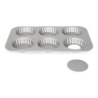 Форма для выпечки кексов со съемным дном Patisse Silver