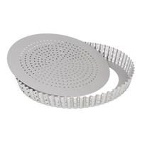 Форма для выпечки круглая перфорированная Patisse Silver 24х3.5 см