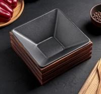 Форма для выпечки чугунная на деревянной подставке 20х20х8 см