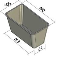Форма для выпечки хлеба 190х105х105 мм