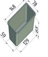 Форма для выпечки хлеба 148х78х65 мм