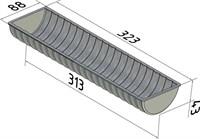 """Форма для выпечки хлеба """"Волнистая"""" 323х88х43 мм"""