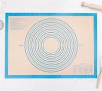 Армированный силиконовый коврик для раскатки теста и выпечки 71х50.5 см