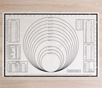 Армированный силиконовый коврик для раскатки теста и выпечки 59х38.5 см