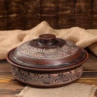 Форма для выпечки керамическая с крышкой 24х7.5 см
