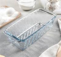 Форма для выпечки хлеба из жаропрочного стекла Paşabahçe Borcam 25х12х8 см