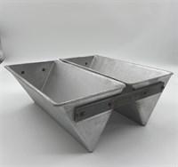 Форма для выпечки хлеба треугольная 247х125х100 мм. 2-х секционная