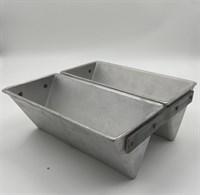 Форма для выпечки хлеба треугольная 225х110х90 мм. 2-х секционая
