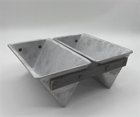 Форма для выпечки хлеба треугольная 185х110х85 мм. 2-х секционная